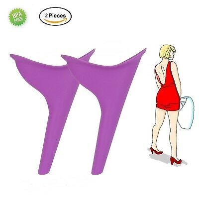 Female urination device lady urine silicone funnel women Outdoor Standing... New