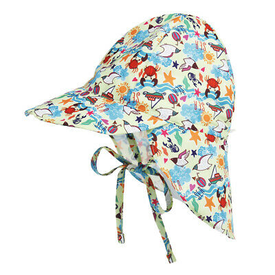 Child Boys Girls Print Quick Dry Sun Hat Baby Summer Beach Caps with Chin Strap