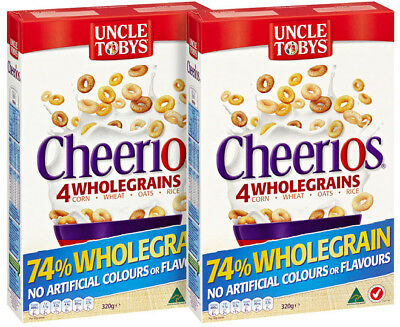2 x Uncle Tobys Cheerios 320g