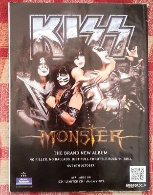 KISS Monster 2012 magazine ADVERT/Poster/clipping 11x8 inches
