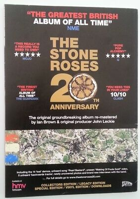 STONE ROSES 20th Anniversary 2009 magazine ADVERT/Poster/clipping 11x8 inches