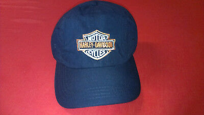 Harley Davidson Embroidered Blue Caps NEVER WORN
