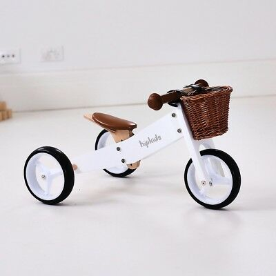 White Hip Kids 2 in 1 Wooden Mini Tricycle Balance Bike