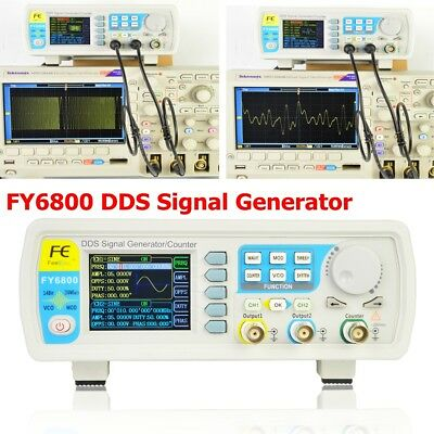 FY6800 0.01-100MHz DDS Signal Generator Function Arbitrary Waveform Dual-channel