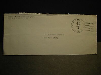 APO 487 DINJAN, INDIA Official 1944 WWII Army Cover 422nd Signal Co (AVN)