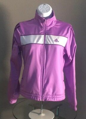30da17c2bdad Adidas Zip Up Track Jacket Purple Size Girls Large. Can Fit Women s Small