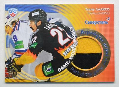 2013-14 KHL Part of the Game #JRS-011 Teemu Laakso SAMPLE Jersey Card