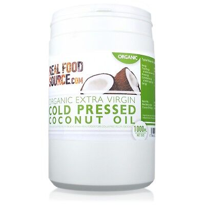 RealFoodSource - Organic Extra Virgin Cold Pressed Coconut Oil 1L