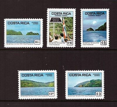 Costa Rica MNH 1979 Nature, Presidential Visit to Cocos Island set mint stamps