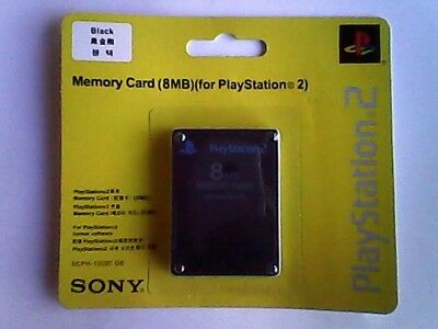 Official Sony Playstation 2 Memory Card 8Mb Black Genuine