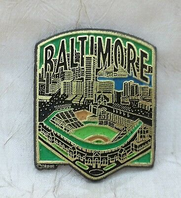 Baltimore Maryland Magnet with Skyline & Orioles Park At Camden Yards