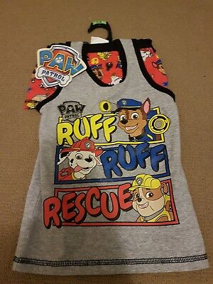 paw patrol boys singlet and undies set size 3-4 new
