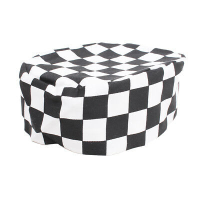 Black & White Check Skull Chef Cap