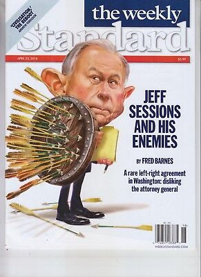 Jeff Sessions And His Enemies Standard Magazine April 23 2018 No Label