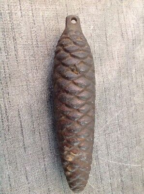 Cuckoo Clock Weight Antique Pine Cone 1088g. 170mm Long