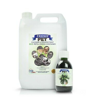 250ml eco Concentrate to makes 5L Pet Dog Disinfectant Cleaner Deodoriser PINE