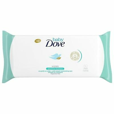 Dove Baby Sensitive Moisture Wipes - 50 Sheets 1 2 3 6 12 Cases