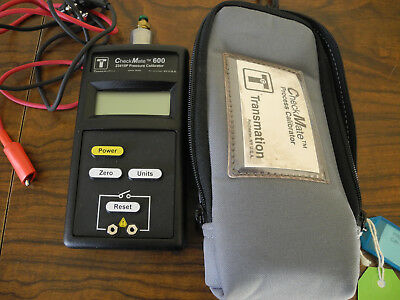Transmation CheckMate 600 23415 Pressure Callibrator 300 PSI & Case Sold AS IS
