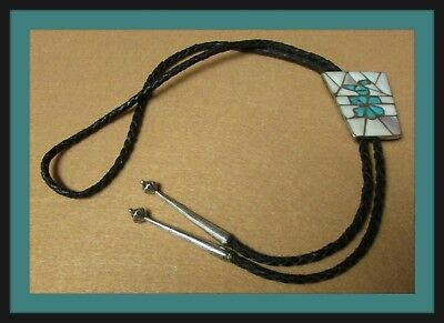 Knifewing Inlay Sterling Silver Bolo Tie - Really Nice
