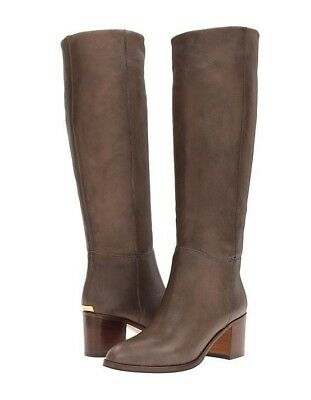 1c0fcb698c27 Kate Spade 9 Mackenzie Dark Taupe Lux Goat Tall Leather Boots Italy NEW BOX   425