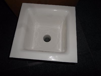 "Zurn Porcelain Cast Iron Floor Sink 12""x12""x6"", 2 3/8"" Drain"