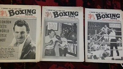 3X Boxing News Magazine 1966, Cassius Clay V Brian London World Title Fight