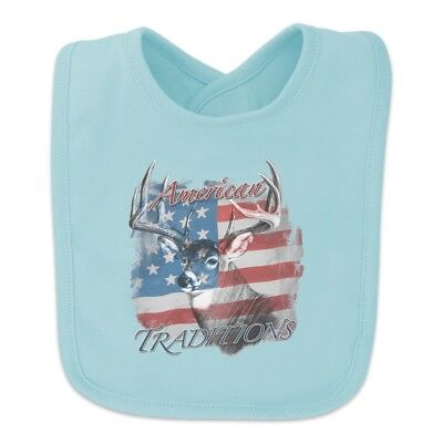 Deer USA Flag American Traditions Hunting Baby Bib