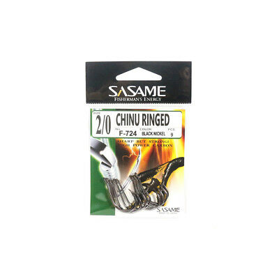 F-724 Chinu Ringed Offset Hook Size 2/0 (1201) Sasame