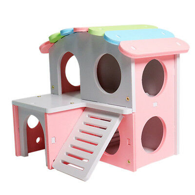 Wooden House Cage Exercise Toys for Hamster Hedgehog Mouse Rat Guinea Pig