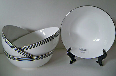 Set of 4 / KATE SPADE New York Parker Place Small Soup Cereal Bowl NWT LENOX