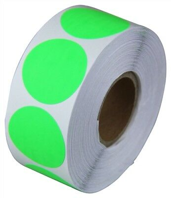 "2"" Adhesive Code Green Dot Inventory Labels Coding Dots Stickers (300 Per Roll)"