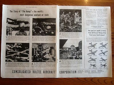Over the Hump World's Most Dangerous Air Route WWII Ad India, Burma, China T.O.