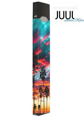 Skin Decal Wrap for JUUL  Protective Vinyl Cover Sticker Kit Beach palm tree