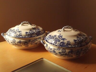 Vintage X2 Keeling & Co Losol Ware Tokio Late Mayers Lidded Serving Bowl Tureen.