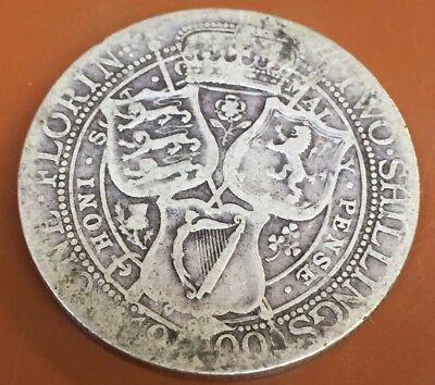 1900 Great Britain UK Silver One Florin Two Schilling Nice Original Coin - TCC