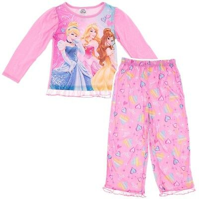Sleepwear Msrp $ 34.00 Disney Princess Toddler Girls Size 2t Fleece Pajamas 2 Set Outfit