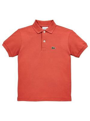 Brand New Kids Lacoste Polo T-Shirt Sierra Red age 1 to 16 years PJ2909-00
