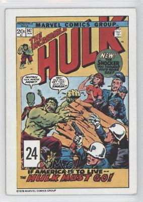 1978 Drakes The Covers Food Issue #24 Incredible Hulk (Issue 147) Card 4f0