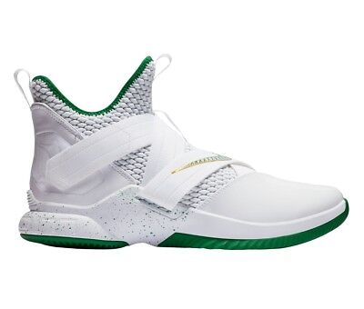 6723e643c07 Nike Lebron Soldier 12 XII SVSM Home Mens AO2609-100 White Green Shoes Size  10.5