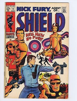 Nick Fury, Agent of Shield 12 (VG) Barry Smith cover/art; Marvel; 1969 (c#19152)