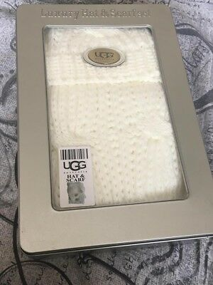 82d5a885546838 UGG Luxury Hat and Scarf set with Gloves. Cream. BNIB from Selfridges. RRP