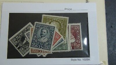 Montenegro Stamp collection on various pages + glassines, etc.