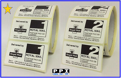 Royal Mail PPI Labels 1st 2nd Class Return Address Stamps On Rolls PPI-01-ROLL
