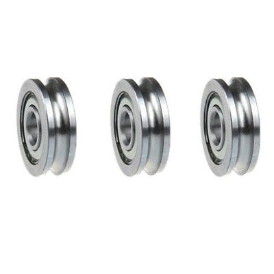 5pCS Guide Ball Bearing Sealed Guide Wire Track U Groove Pulley Wheels Roller