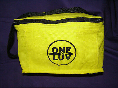 "Southwest Airlines Yellow ""One Luv"" Lined Zippered Lunch Bag Soft Sided"