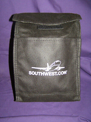 Southwest.com Black Logo Lunch-Bag with Velcro Closure & Front Pocket