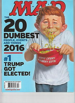 2016 Top 20 Dumbest Mad Magazine February 2017 No Label Donald Trump Got Elected