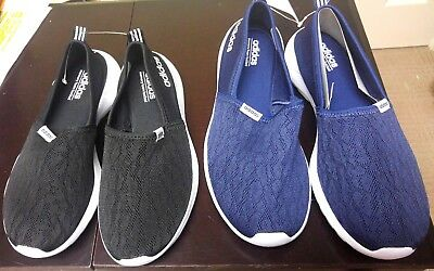 Adidas Neo Womens Slip on shoe sneaker New no Box Navy Black You Choose