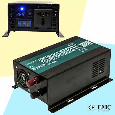 Pure Sine Wave Solar Inverter 300W 12V DC to 110V/120V AC Power Inverter Convert