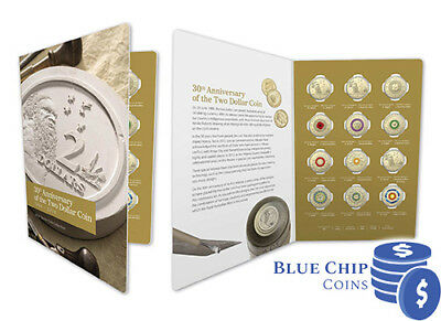 2018 UNC $2 30th Anniversary of the $2 Coloured 12 Coin Set